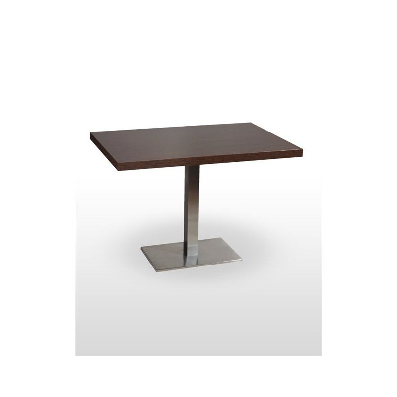 Table noel rectangulaire inox base 60x40 cm chaisestables for Pied rectangulaire pour table