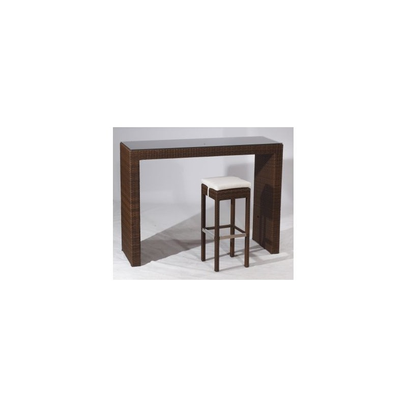 Table haute rattan class 50 chaisestables for Html table class
