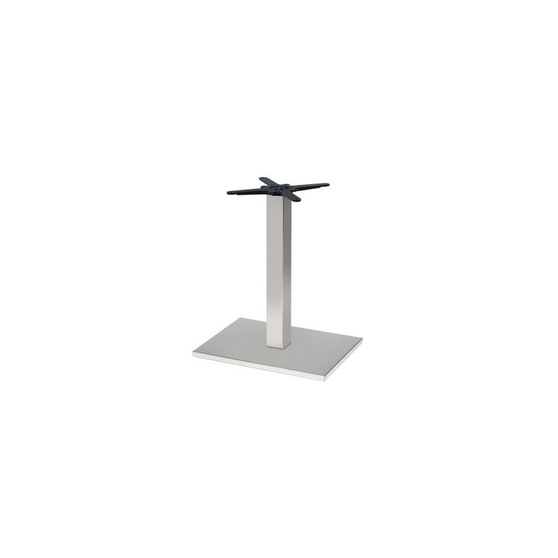 Table noel rectangulaire inox base 60x40 cm pas cher for Table rectangulaire pied central