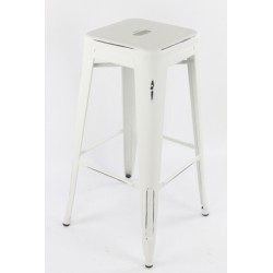 Tabouret TOLIX blanc antique