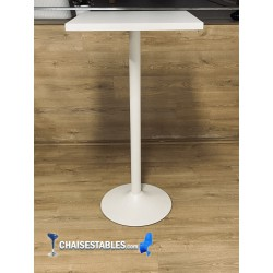 TABLE HAUTE F PIED BLANC
