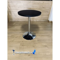 Table F Rond Pied chrome