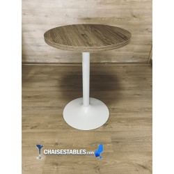 Table F Rond Pied Blanc
