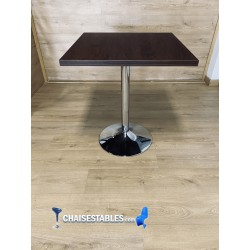 Table F  Carree Pied Chrome