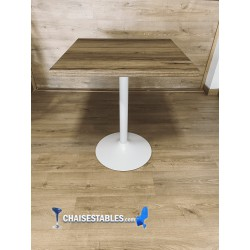 TABLE F CARRE PIED BLANC