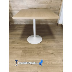 TABLE F CARREE PIED BLANC