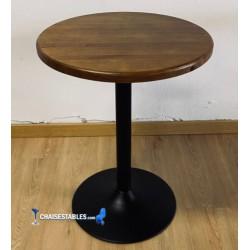 Table F Rond Pied Noir Exterieur