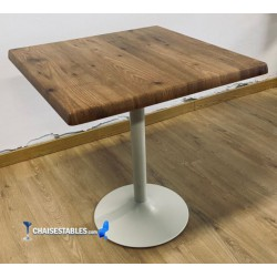 Table F Carree Pied Blanc Exterieur
