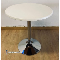 Table F Rond Pied Chrome Exterieur