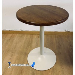 Table F Pied Blanc Rond Exterieur