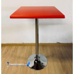 Table Haute F chrome Exterieur