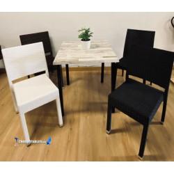 Conjointe de 4 Chaises Fuengirola New et 1 Table Soho Exterieur